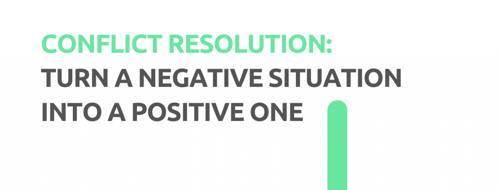 Conflict resolution: Turn a negative situation into a positive one. - Replyco Helpdesk, 29 Most Important Customer Service Attributes