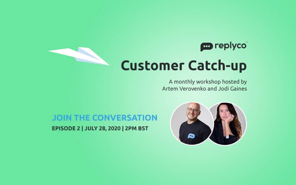 Customer Catch-up - Replyco Monthly Workshop with Artem Verovenko and Jodi Gaines