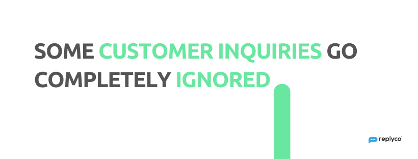 Some Customer Inquiries Go Completely Ignored - 32 Customer Service Facts - Replyco