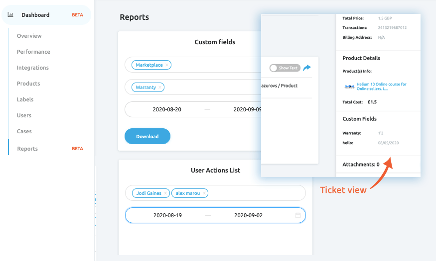 Custom Fields and New Exportable Reports