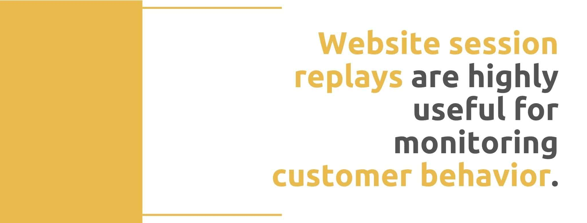 Website session replays are highly useful for monitoring customer behavior - 22 Ways to Collect Customer Feedback - Replyco