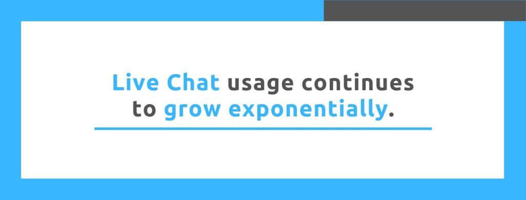 Live Chat usage continues to grow exponentially - Replyco