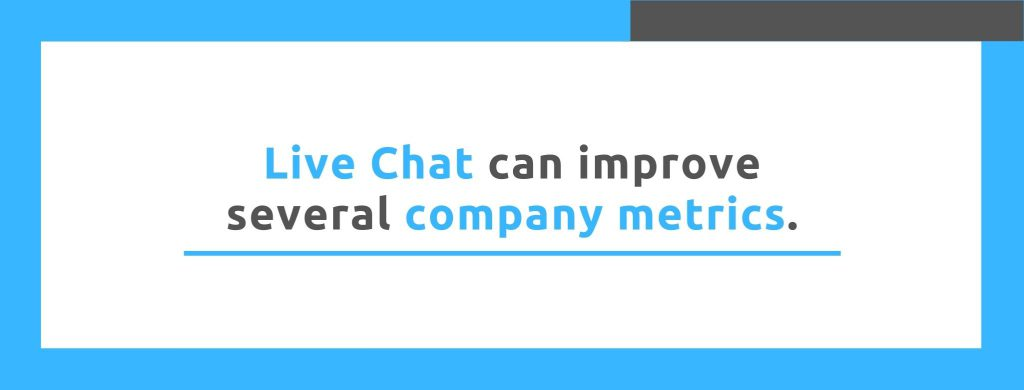 Live Chat can improve several company metrics. - Replyco