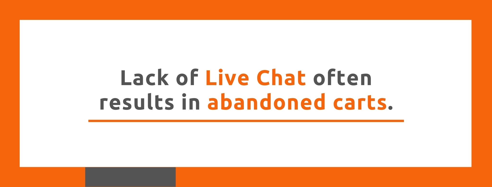Lack of Live Chat often results in abandoned carts. - Replyco
