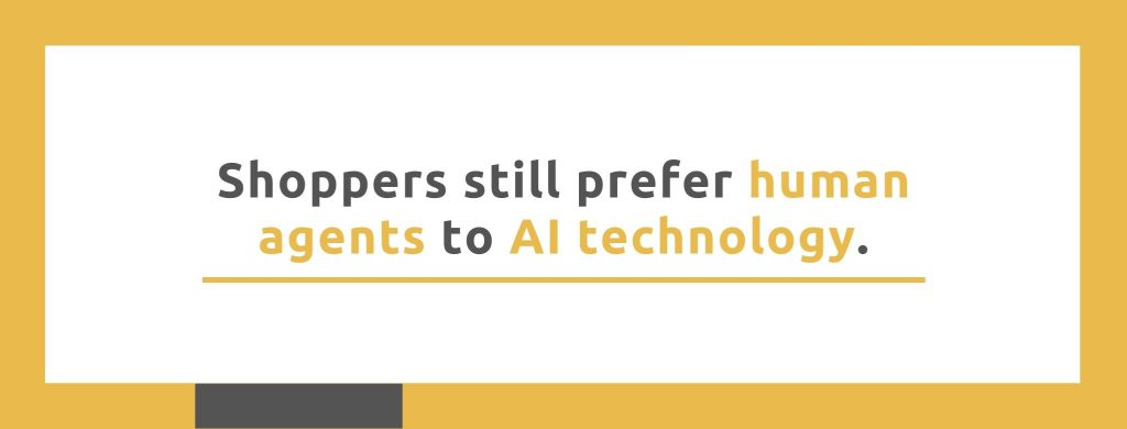 Shoppers still prefer human agents to AI technology. - Replyco