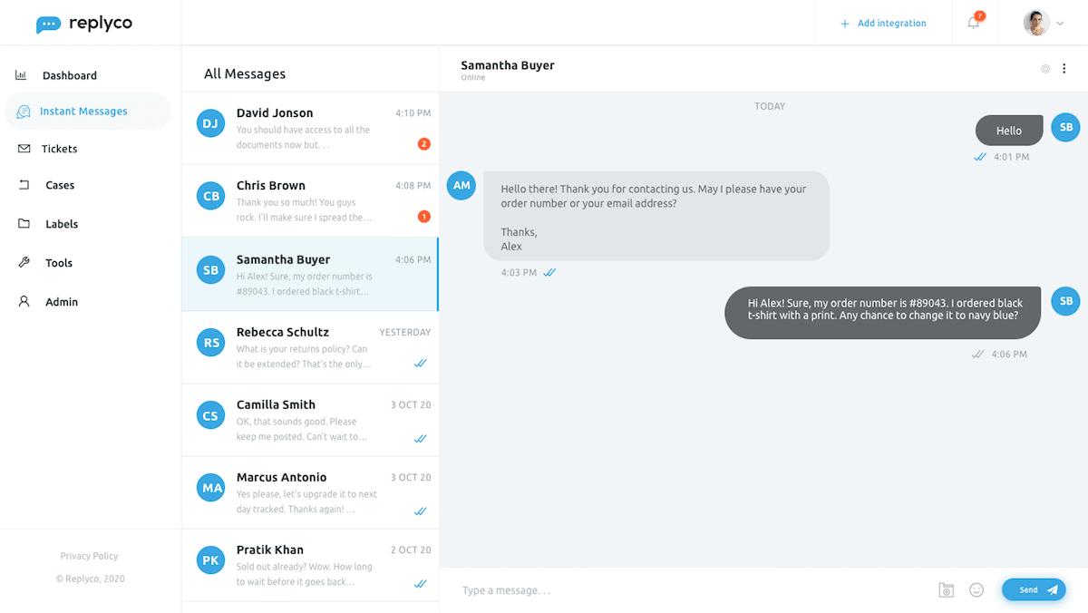Live Chat Widget - Sprint 12 - Replyco