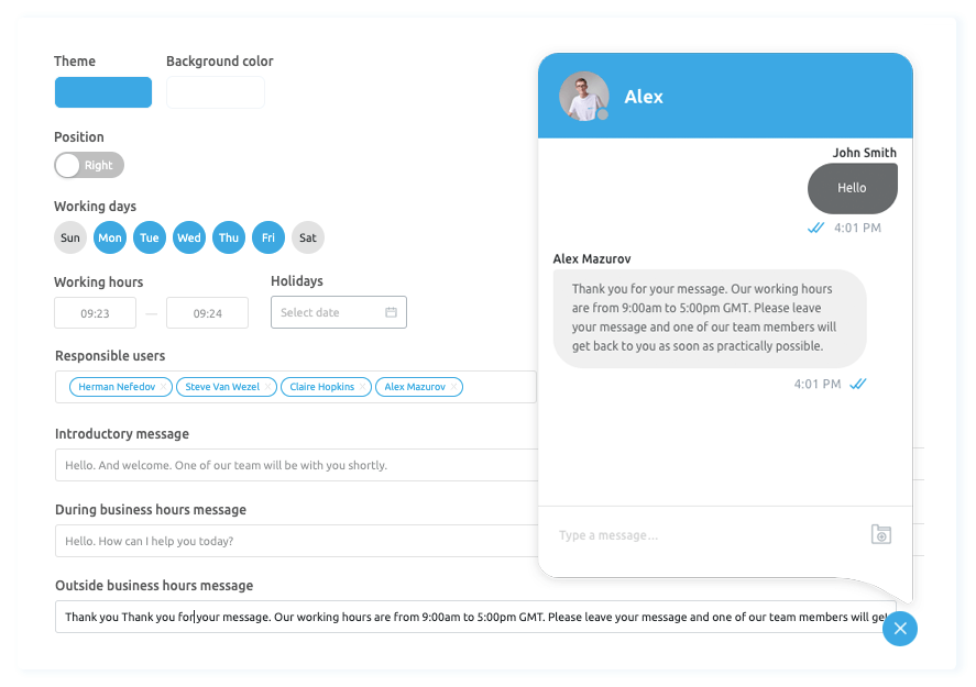 Live Chat Management - Sprint 11 - Replyco Helpdesk for eCommerce