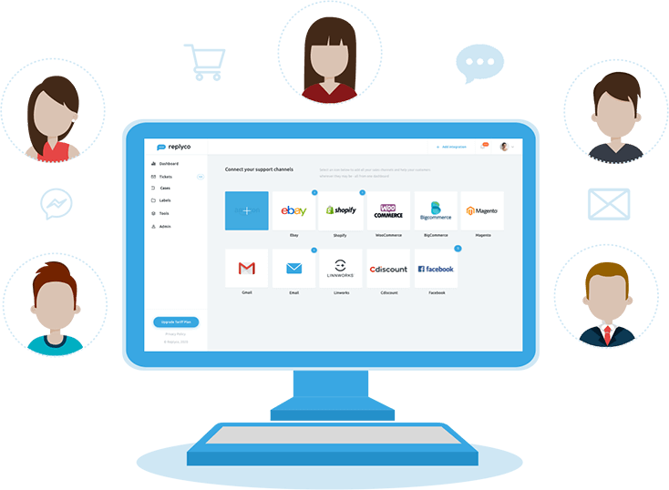 Unlimited Users + Ticket-Based Pricing - Replyco vs eDesk - Replyco Helpdesk Software for eCommerce