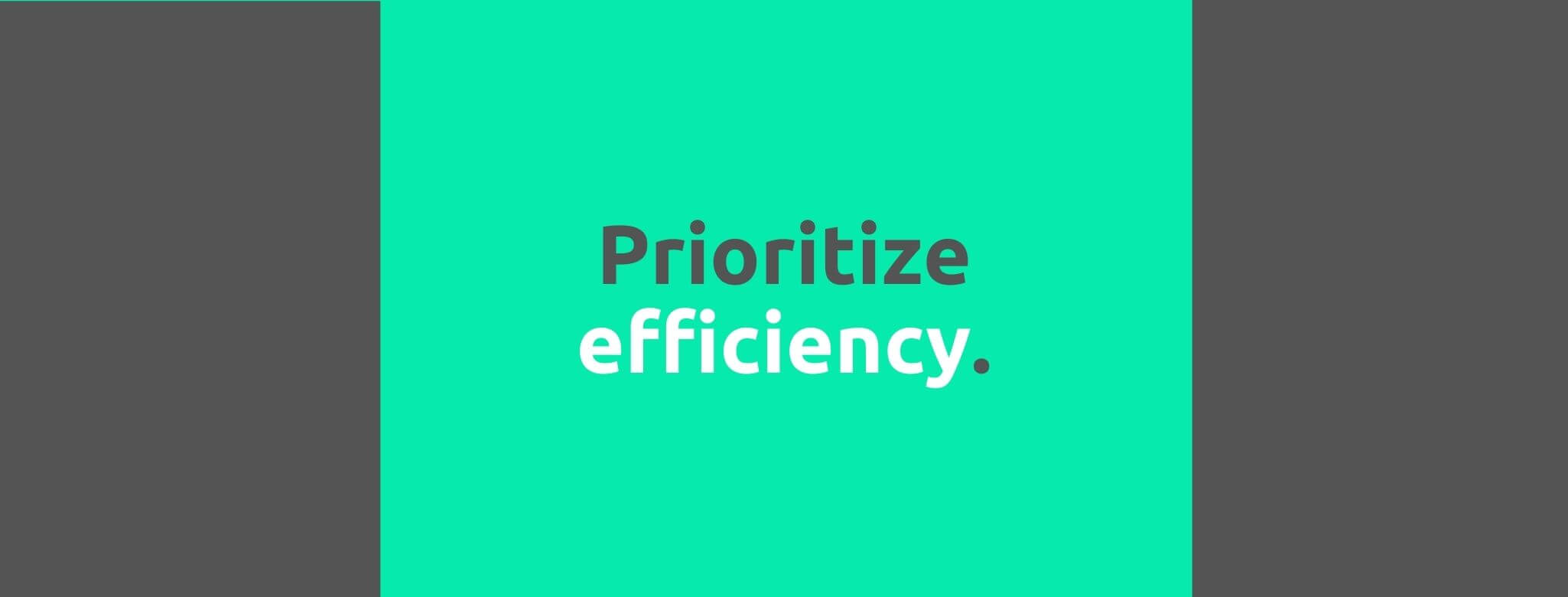 Prioritize efficiency - Customer Expectations - Replyco Helpdesk Software for eCommerce