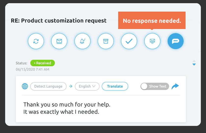 Amazon No Response Needed Button - Replyco