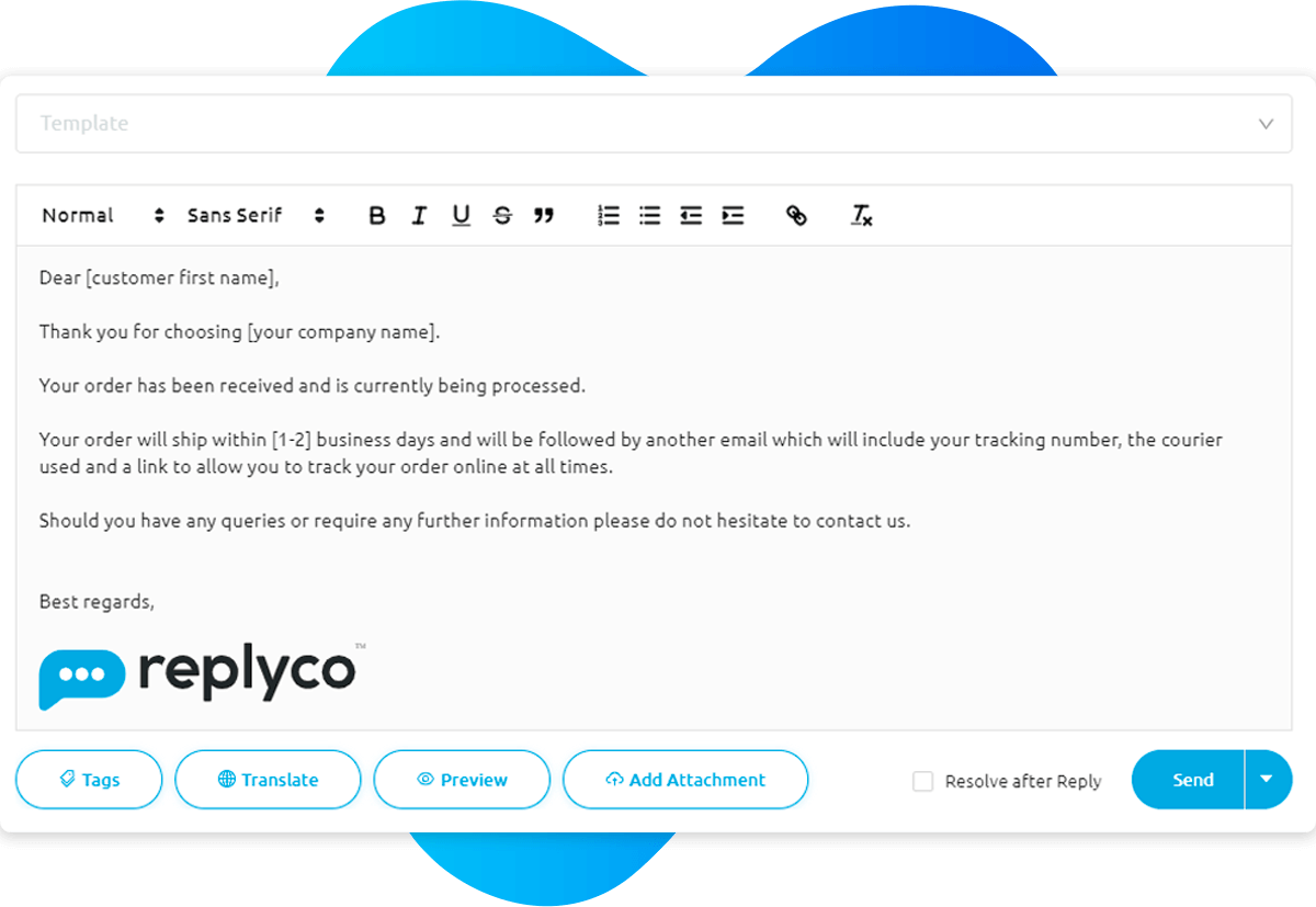 More Customer Service Tweaks - Sprint 13 - Replyco Helpdesk Software for eCommerce